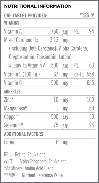 Cell Life Nutritional Information
