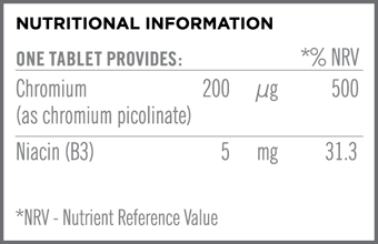 Chromium Picolinate 200mcg Nutritional Information