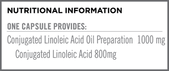 Conjugated Linoleic Acid Nutritional Information