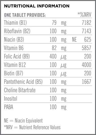 Mega B 100 Nutritional Information