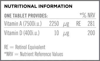 Vitamin A & D3 Nutritional Information