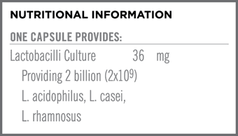 Acidophilus Plus Nutritional Information