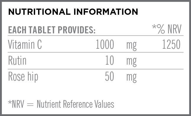 Effervescent Vitamin C Nutritional Information