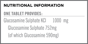 Glucosamine Sulphate 1000mg Nutritional Information