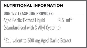 Kyolic Liquid Nutritional Information