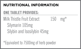Milk Thistle 150mg Nutritional Information